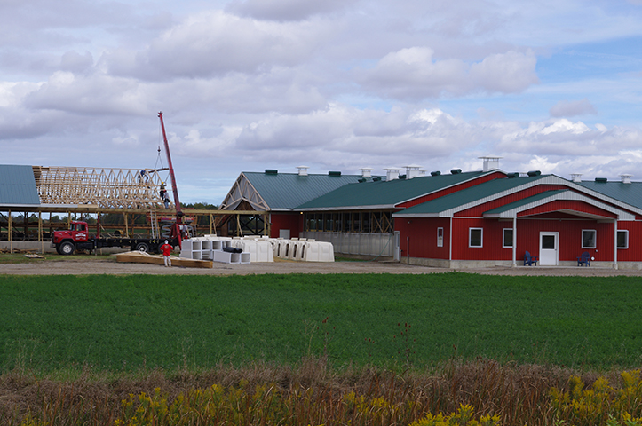 completed dairy barn - link to dairy barn spotlight page.